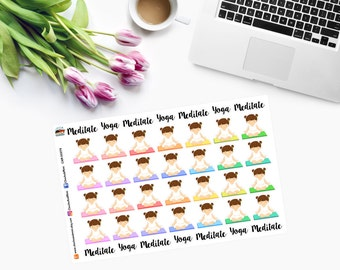 TIME TO MEDITATE / Yoga Planner Stickers - CAM00274