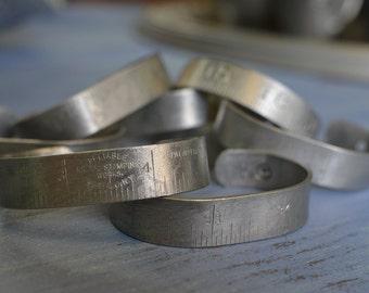 Vintage Aluminum Folded Ruler Bracelet