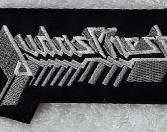 JUDAS PRIEST Text Logo Hard Rock Heavy Metal Embroidered Patch