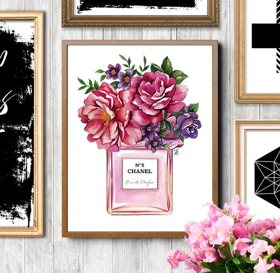 Chanel Perfume Flowers Painting Chanel Flowers Chanel