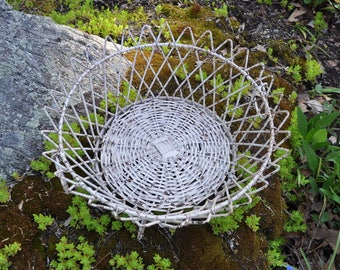 Antique wire food or plant basket