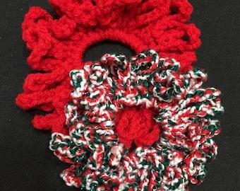 Hair Scrunchie II, Set of 2, Crochet Hair Scrunchie, Crochet Hair Tie, Ponytail Holder, Hair Accessory