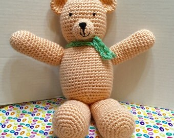 Crochet Bear, Amigurumi Bear, Stuffed Bear, Teddy Bear, Nursery Decor