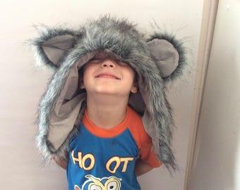 Bear Hood faux fur costume dressup animals pretend play