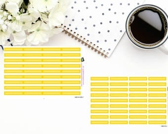 Planner Stickers|Box Stickers|Yellow Box Stickers| Hourly and Vertical Planners| For use in a variety of planners and journals|HB019