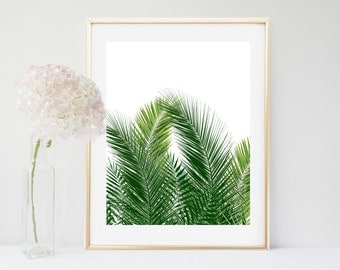 Tropical Print, Palm Print, Leaf Print, Printable Art, Palm Decor, Tropical Leaf, Home Decor, Wall Decor, Instant Download