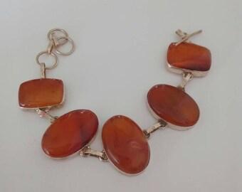 Stone bracelet carnelian