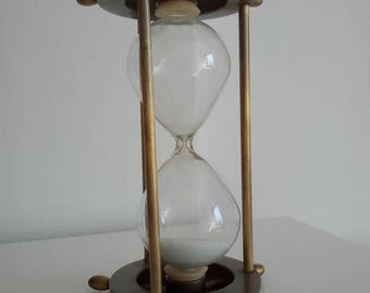 Vintage brass hourglass