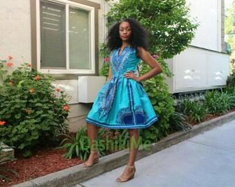 SALE! Dashiki dress, ankara dress, African print dress (Please read listing details)