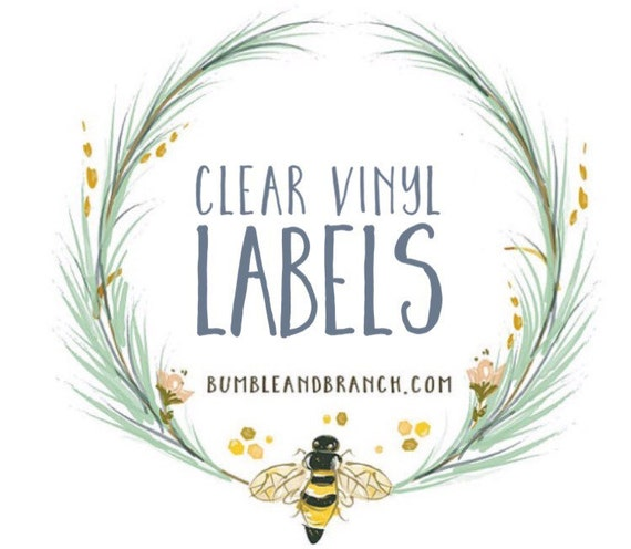 Slobbery image in clear printable labels for glass