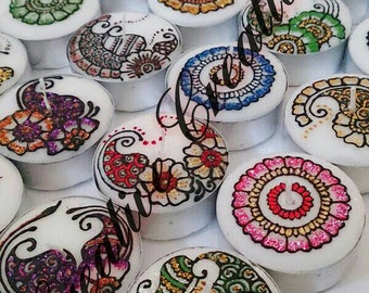 Heena tea light set of 6.