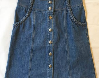 70s denim skirt