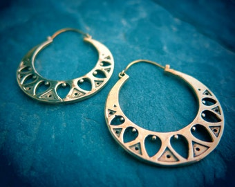 Morning Dew Brass Earrings