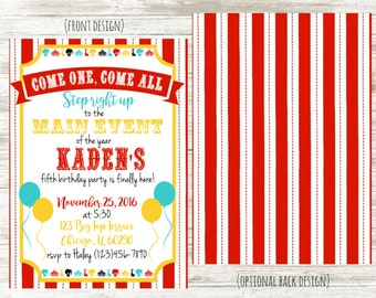 Circus Carnival Party Invitation