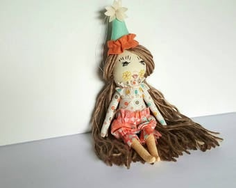 Ooak 8.5 inch tiny circus theme heirloom doll