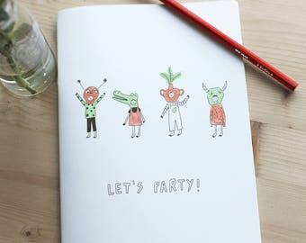 """Memo pad """"Let's Party"""""""