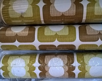 Amazing complete and original rolls of vintage vinyl wallpaper - 1960's matching rolls