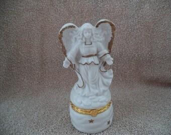 Angel trinket box,  Jewelry storage box , Ring Trinket Box , Cream Trinket Box , Angel figurine ,Wedding Ring Box ,  Angel Jewelry box