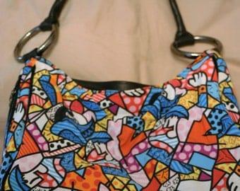 purse, Donald J. Pliner Multicolor Handbag, made in USA