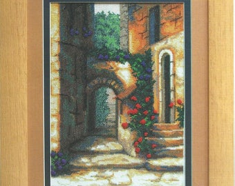 Cross Stitch Kit Patio with roses