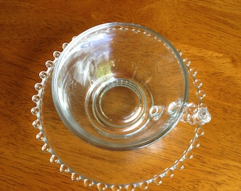 Imperial Candlewick clear Cup and Saucer Set