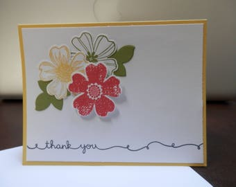 Set of 3 Handmade Thank You Cards (set #21)