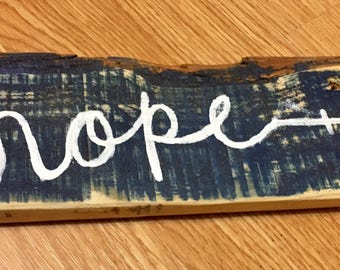 Hope Arrow Word Art
