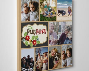 Family Collage Template, Custom family collage, Pictures to canvas, Family Reunion, Family sign, Gift for mom, Father;s day gift, Baby photo