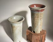 Pair of two stoneware orchid pots - Custom Order