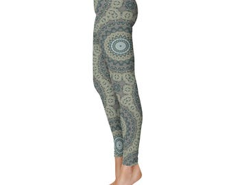 Shaman Clothing - Tribal Yoga Pants, Mandala Patterned Boho Leggings, Printed Leggings for Women