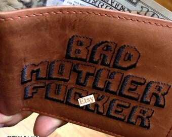 The Original BMF® Bad Mother F*cker Brown Leather Wallet 100% Genuine Quality
