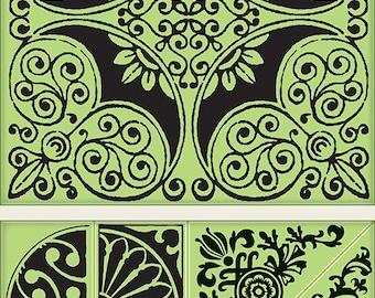 Inkadinkado Ornamental Tile Cling Stamp Set