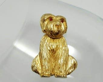 NAPIER Lhasa Apso Dog Pin