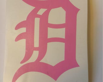 """Old English D (DETROIT) Vinyl Decal (3"""" by 5"""")"""