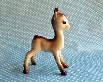 "Vintage ceramic deer figurine, 4.5"" high"