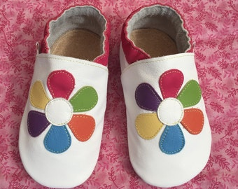 Baby Shoes Girls, Toddler Girl Shoes, Baby Girl Shoes, Leather Baby Shoes, Baby Shoes, Fushia Daisy Shoes, Baby Shoes, Handmade Australia
