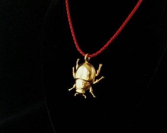 Beetle Pendant 18k plated yellow gold