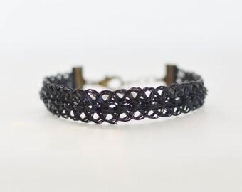 Woven wire bracelet
