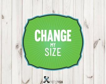 Change to Custom Size