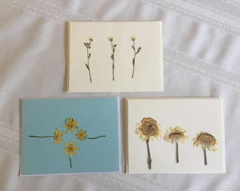 Pressed Flower Note Cards