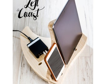 Charging Station Dock iPhone iPad Stand Android Her Men Women Wedding Bride Groom Boyfriend Integrated USB Charger