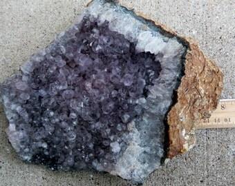 Flat Amethyst Cluster