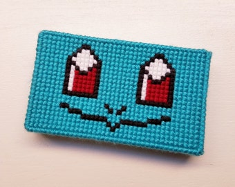 Squirtle Inspired 3DS Case Protector - 3DS Case Protector - Squirtle Case Protector - Pokemon Case Protector - Cross Stitch Case