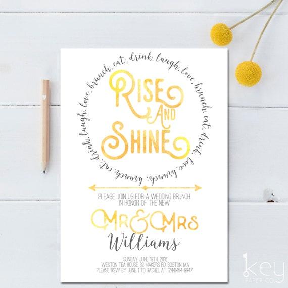 post wedding brunch invitation printable rise and shine, Wedding invitations