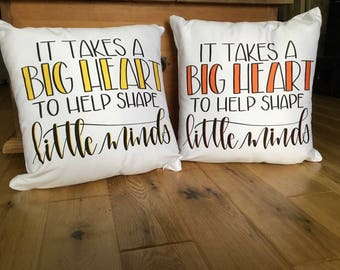 Hand lettered pillows