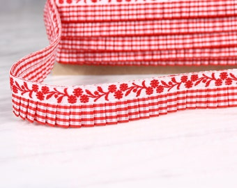 5 tape, flying m, 25mm, red and white, polyester, (5137)