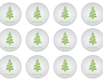 Christmas Cake Toppers, Edible Cupcake Toppers, Christmas Party, Cupcake Toppers, Wafer Paper, Fondant Toppers