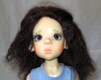Hand made mohair wig for Kaye Wiggs MDS BJD