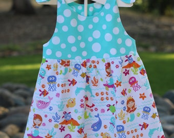 Girls sun Dress, Toddler Sun Dress, Baby Mermaid Dress,Baby Beach Dress,Girls Mermaid Dress,Girls Sun Dress,Girls Bubble Dress