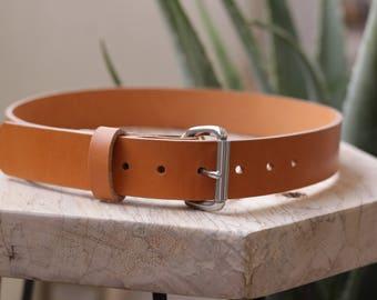 Heavyweight Leather Belt - Hermann Oak Tan Bridle